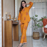 Adhira Yellow Cotton Set
