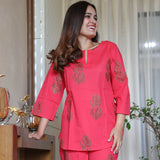 Upasna Pink Cotton Set