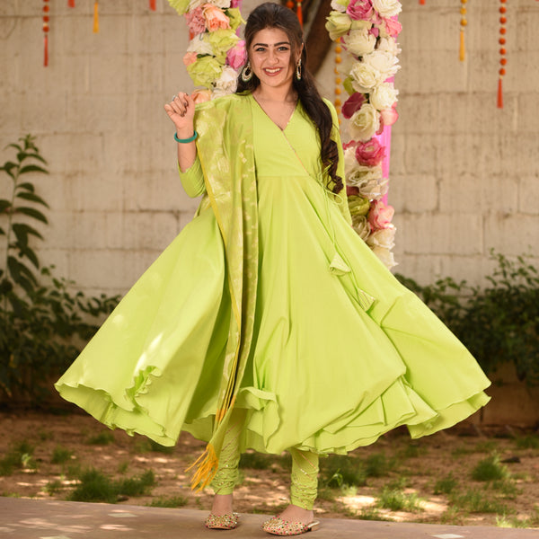 Light Green Cotton Suit