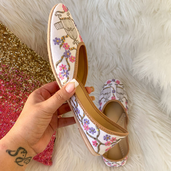 Indian footwear for women floral