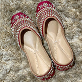 Maroon Juttis for women stylish