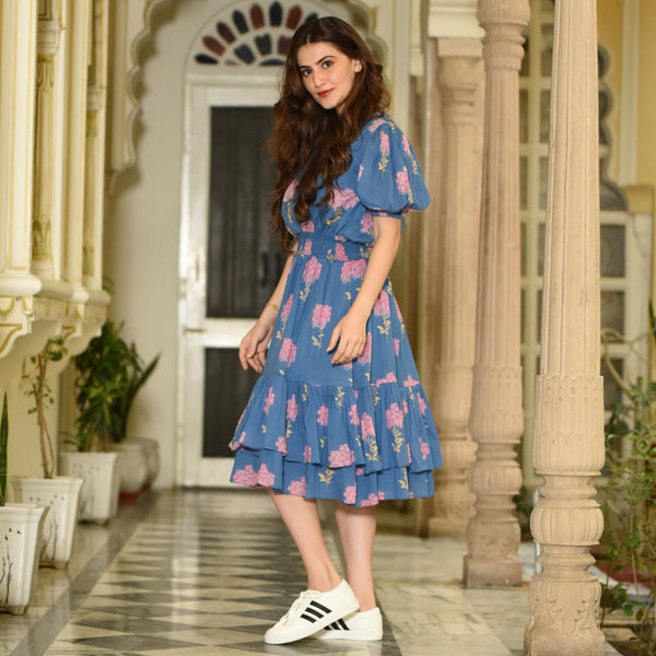 Short Floral Cotton Dress