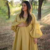 yellow cotton maternity wear
