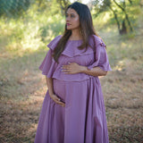 shop mauve cotton maternity dress online at best prices , shop mauve maternity dress online at best prices