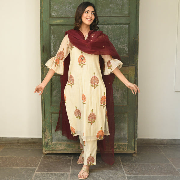 shop chanderi kurta online at best prices