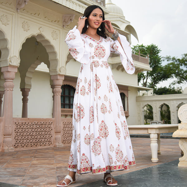 Meaghan White Cotton Kurta Set