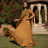 modal mulmul dress with organza dupatta