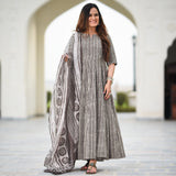 grey colored cotton suit set