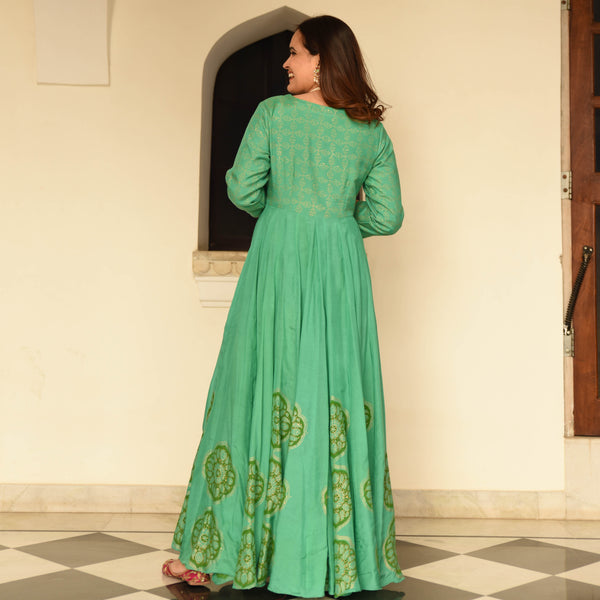 shop amazing green quality cotton silk dress online at best prices