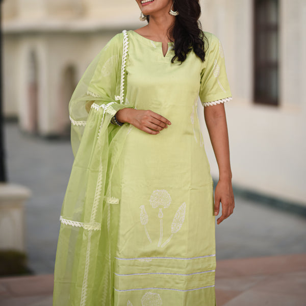 shop amazing quality green colored modal satin suit set online at best price