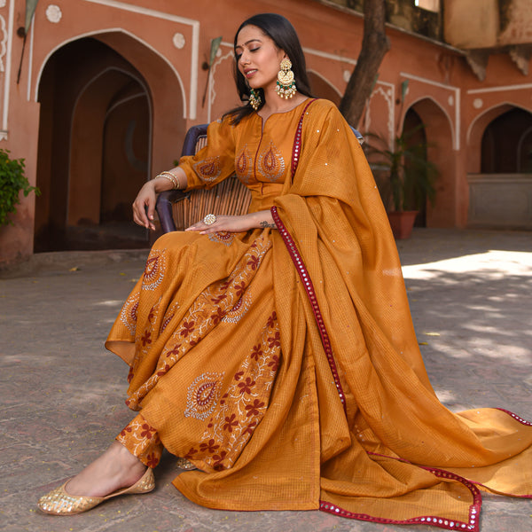shop amazing quality copper kota doriya suit set online at best price