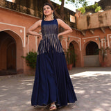 get amazing quality sapphire gold rayon dress online