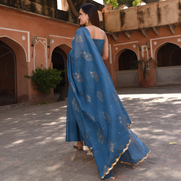 get amazing quality blue kota doriya suit set online at best price