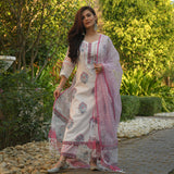 cotton suit set with doriya dupatta