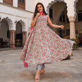 pink cotton suit  with chiffon dupatta