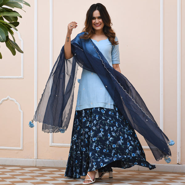 shop blue colored suit set online at best prices