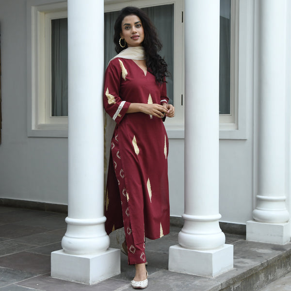 cotton suit set for women online