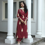 red cotton suit with doriya dupatta