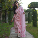 get amazing quality cotton suit with doriya dupatta  online