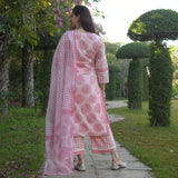 polka paisley cotton suit set