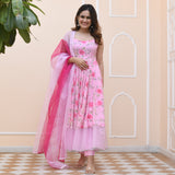 shop pink floral suit set online at best prices