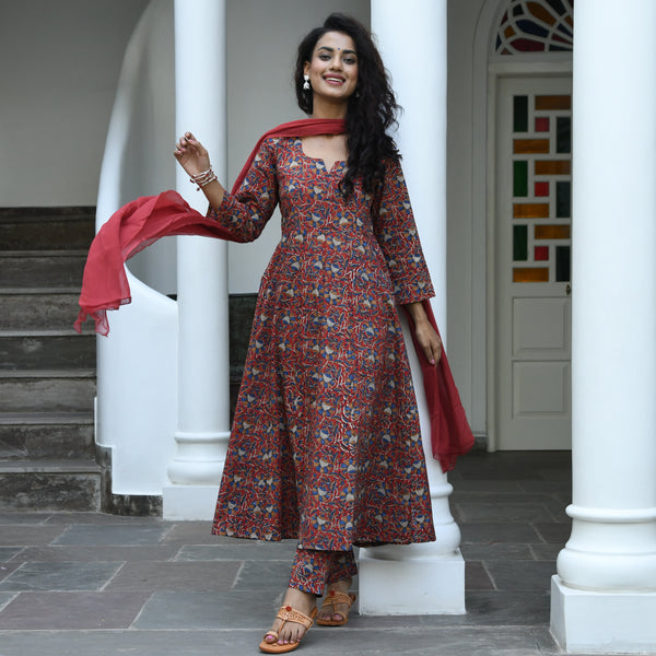 Tulsi Bagru Cotton Suit Set
