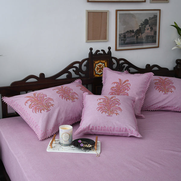 Orchid Cotton Printed Bedsheet