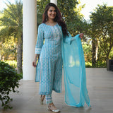 get amazing quality blue  cotton suit set online
