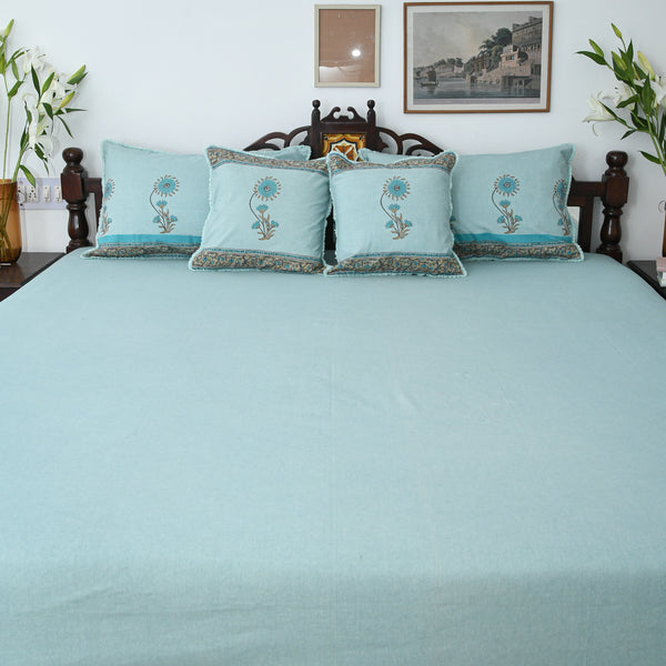 Meadow Cotton Printed Bedsheet