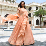 Peach colour Lehenga ,Best Indianwear for women