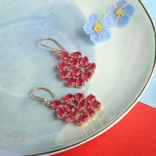 Red Hydro Bud Earrings