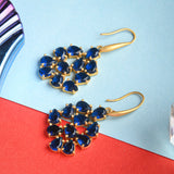 Blue Hydro Bud Earrings