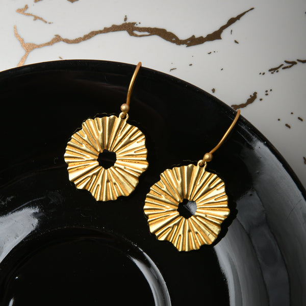 Evelyn Handcrafted Brass Earrings