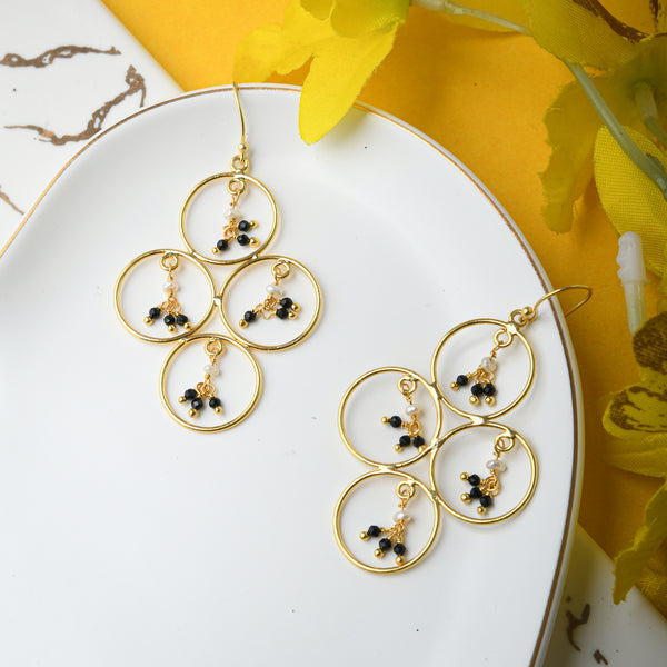 Ella Handcrafted Brass Earrings