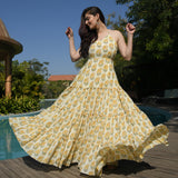 shop yellow cotton dress online at best price