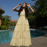 yellow cotton dress online