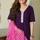 cotton suit and doriya dupatta,get cotton suit at best prices