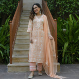 shop tangerine cotton suit set