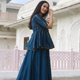 buy blue kurta  with pants for women ,best Indian wear for women
