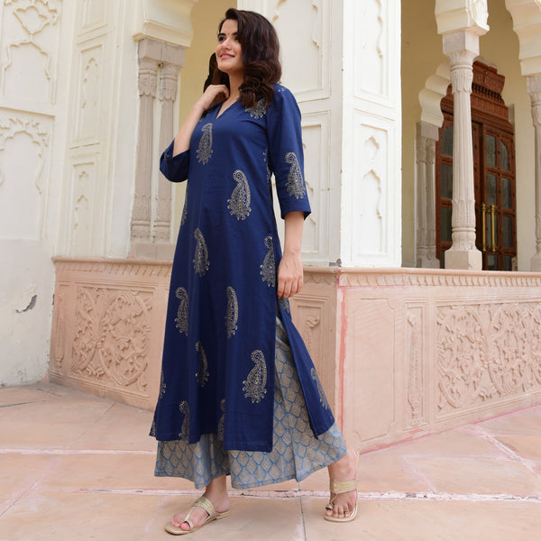 get amazing quality blue kurta
