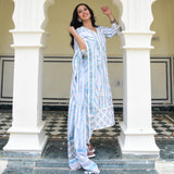 shop blue and white colored suit for women online at best prices