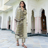 shop printed ctooton suit with doriya dupatta online at best prices