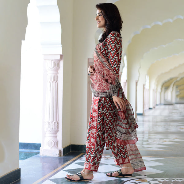 buy hand block printed suit for women at best prices
