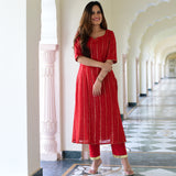 buy amazing quality red kurta set online