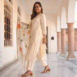 shop amazing quality cotton suit with handpainted doriya dupatta at best price