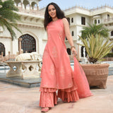 peach sharara set ,buy sharara set online