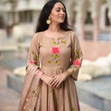 beige cotton suit set