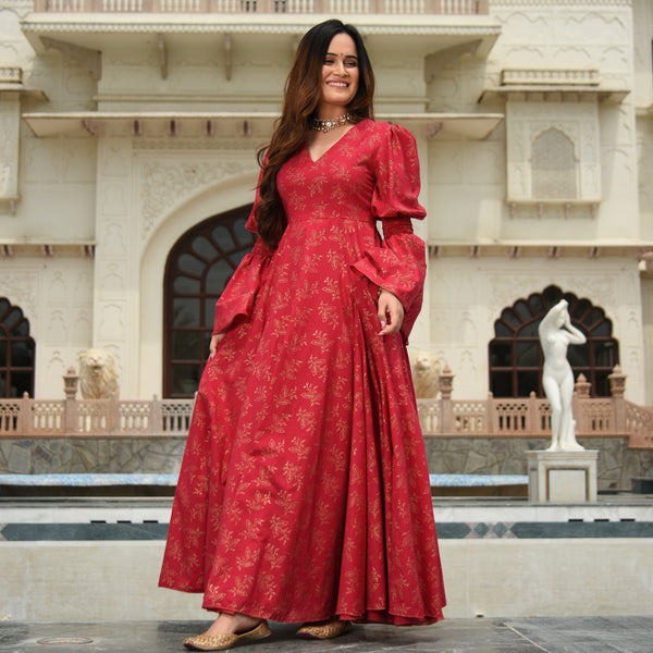 Moroccan Rose Cotton Dress