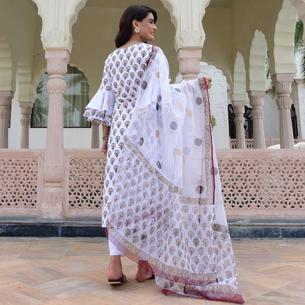 buy white cotton suit at best prices