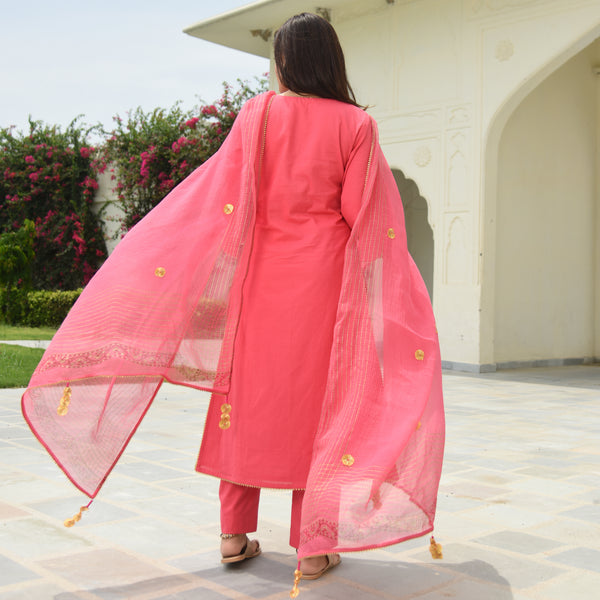 get cotton suit at best prices, get pink suit online for women